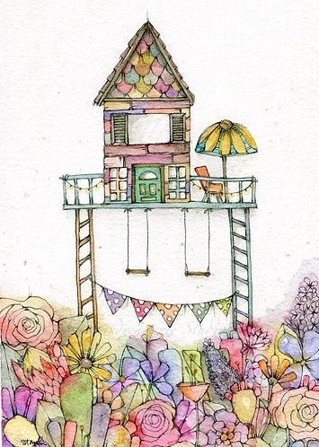 Garden Home Greeting Card