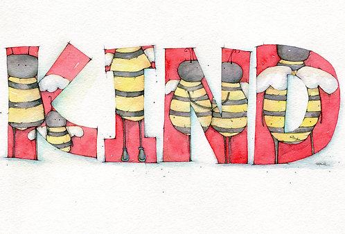 Bee Kind Post Card