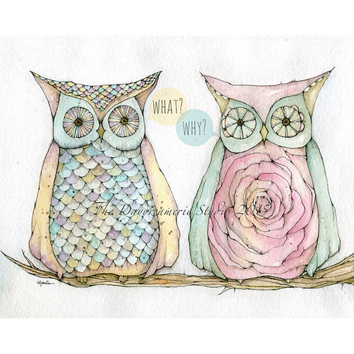 Rebel Owls with Thought Bubbles