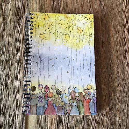 Brighter Together Spiral Bound Midi-Notebook/Journal
