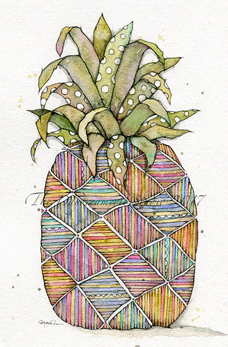 Lineapple Greeting Card