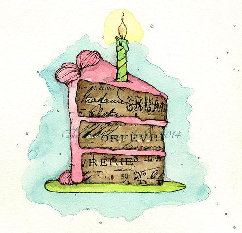 Piece of Cake Greeting Card