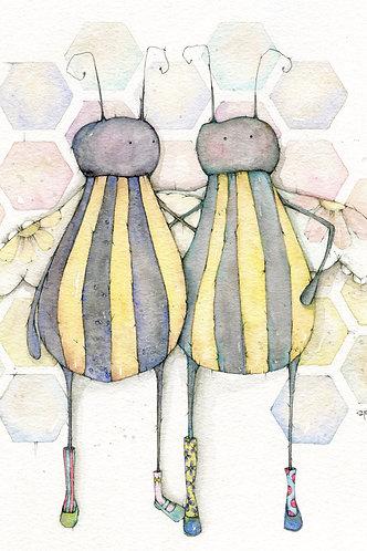 Chub-bees Post Card