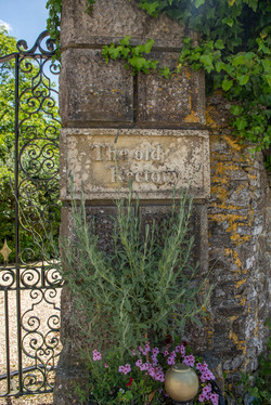 The Old Old Rectory stone carved sign