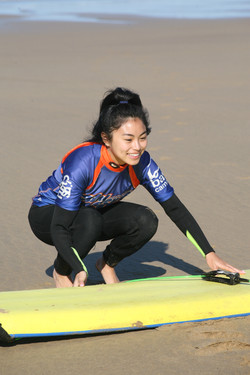 Preparing for a surf on Women & Water retreat