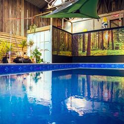 Indoor swimming pool Yoga & Foraging Retreat