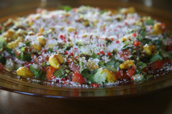 Vegan salad with cashew nuts