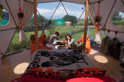 Relaxing in geodesic dome