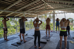 Sri Lankan terrace yoga