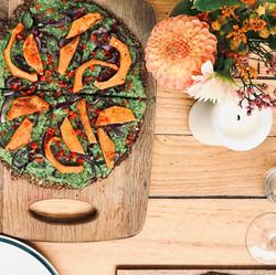 Vegan pizza dish