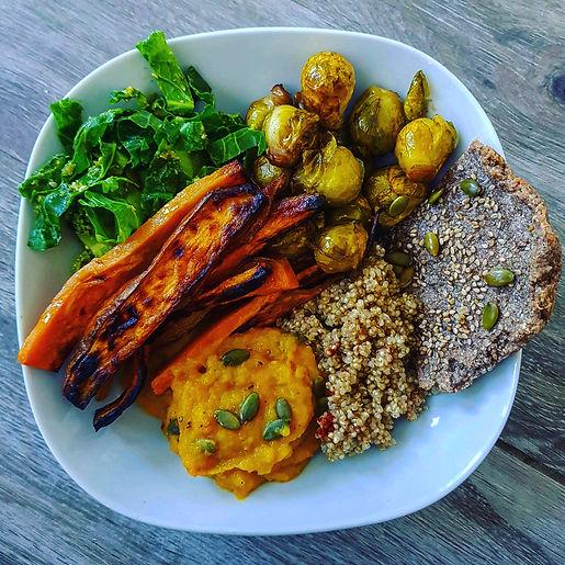 fresh vegan food full of vibrant colour