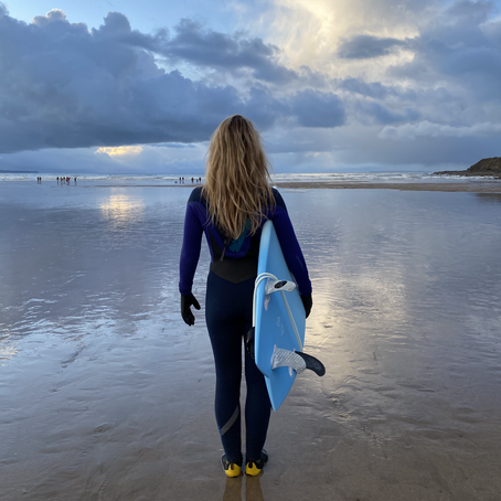 Winter Surfs, New Board and advice from Alan Stokes