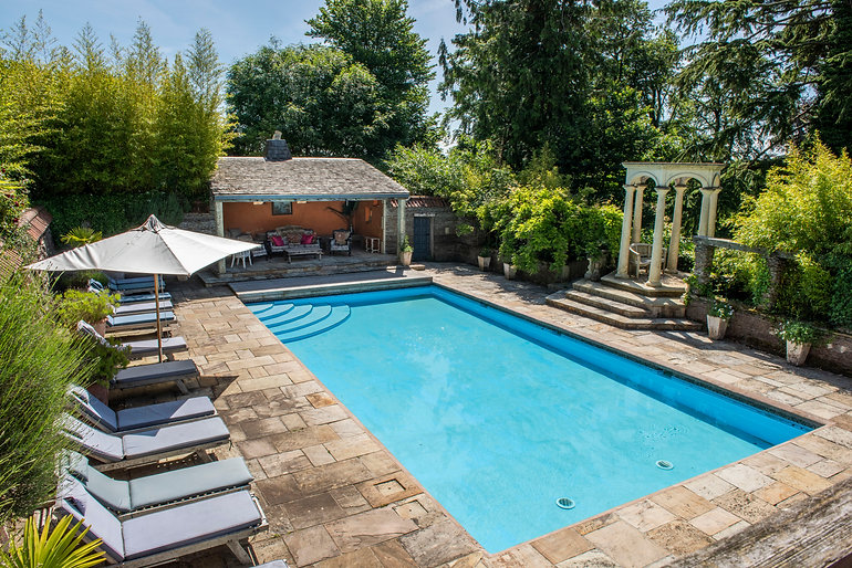 Swimming pool and outdoor area at The Old Rectory Chulmleigh