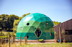 Geodesic dome at Loveland Farm