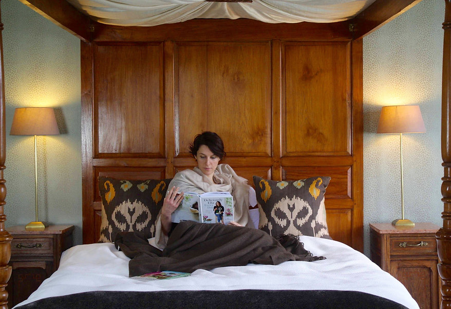 Mindfulness and being cosy in bed reading a book