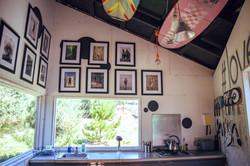 Kitchen area at Loveland Farm Yoga & Foraging retreat