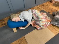 Amanda Bunton relaxing yin pose