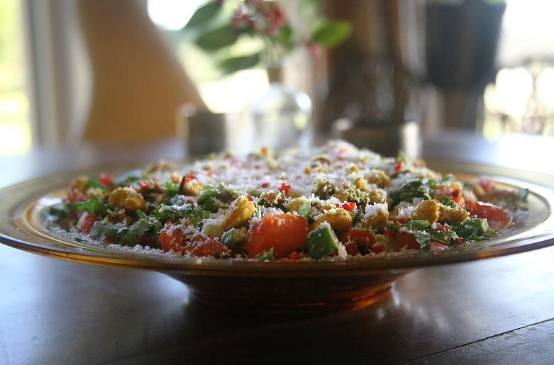 Cashew nut vegan salad