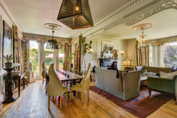 The dining room at The Old Rectory