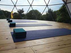 Yoga pod on Yoga & Foraging Retreat