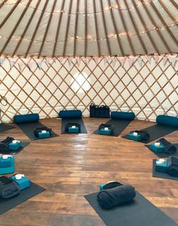 Wild & Free Adventures yoga yurt