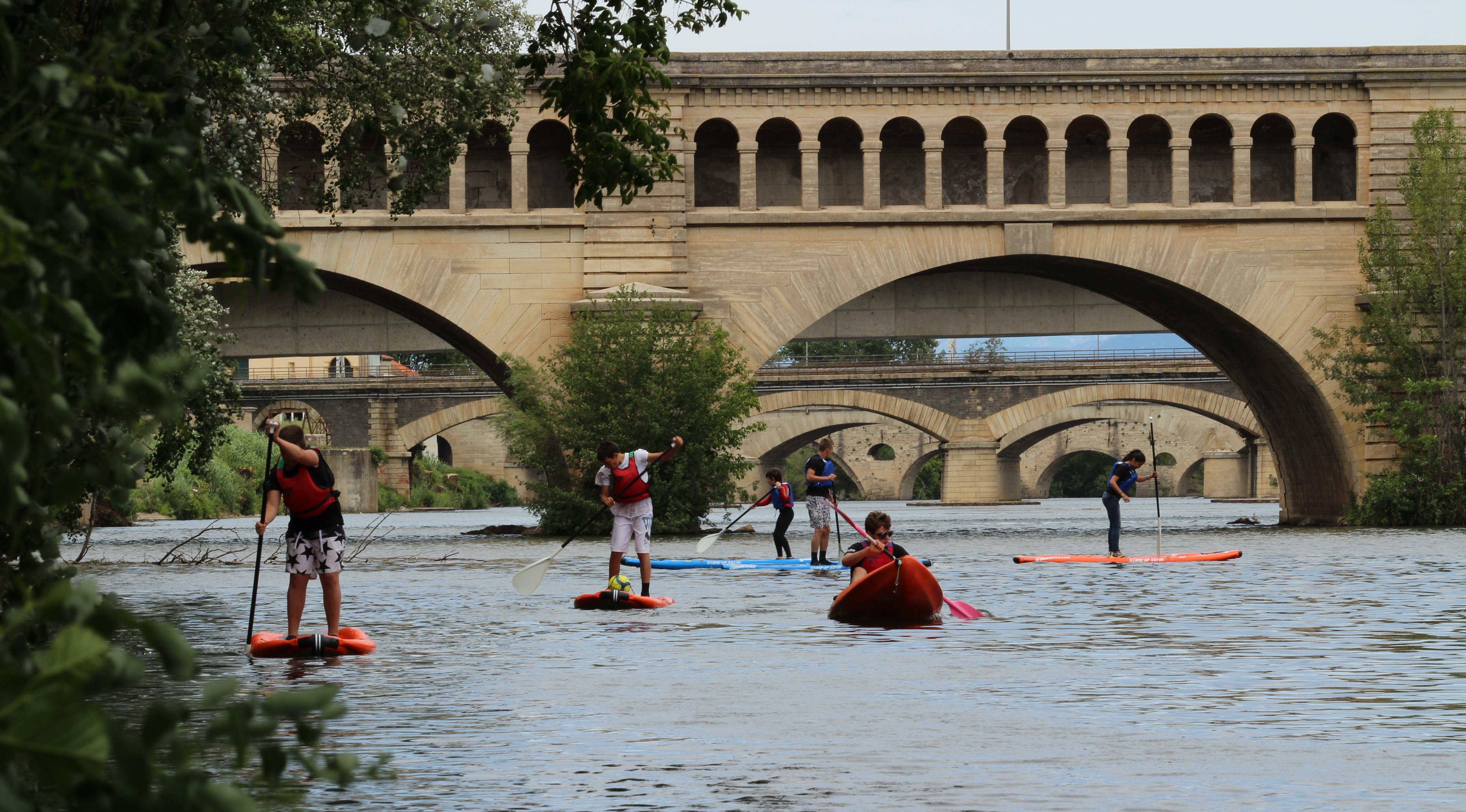 Kayak sur l'Orb à Béziers