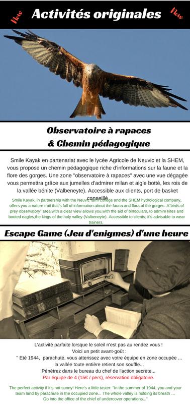 Observatoire à rapace en plein coeur des gorges de la haute Dordogne