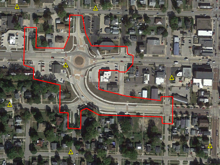 Roundabout GPS control points