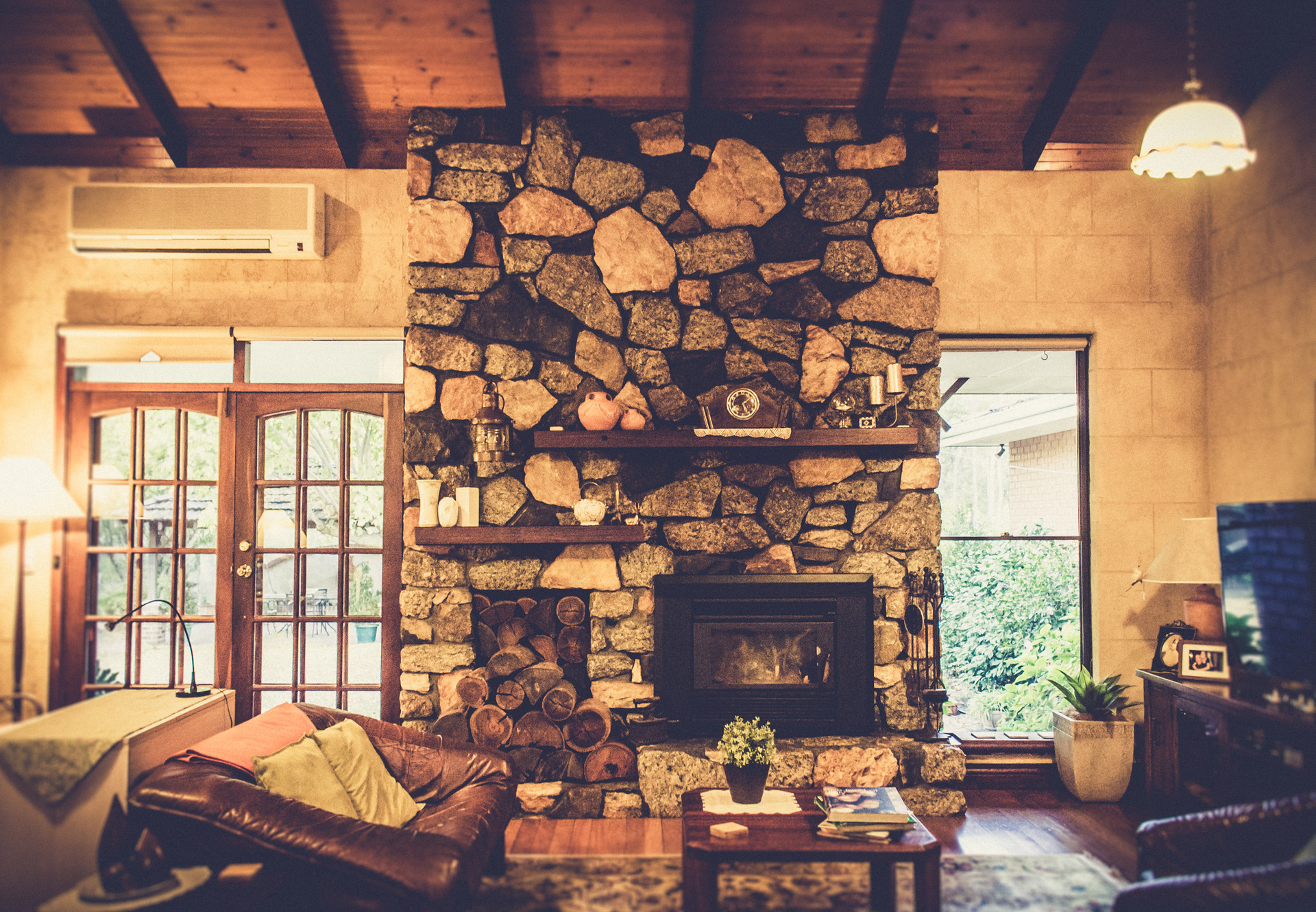 Mandia's fireplace
