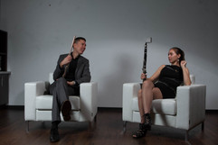 Natalie Groom, clarinet and Thomas J. Wible flute