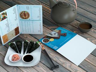 تصميم قائمة طعام مطعم اسماك