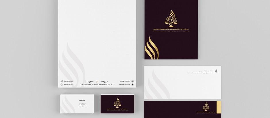 تصميم شعار وهوية تجارية لمكتب محاماة