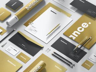 تصميم هوية تجارية مطبوعات