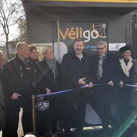 Inauguration de la station Véligo