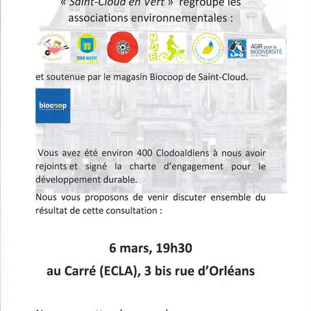 Réunion publique Saint-Cloud en vert - ce vendredi à 19h30