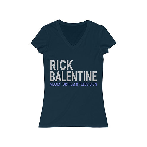 Rick Balentine Music Women's Jersey Short Sleeve V-Neck Tee