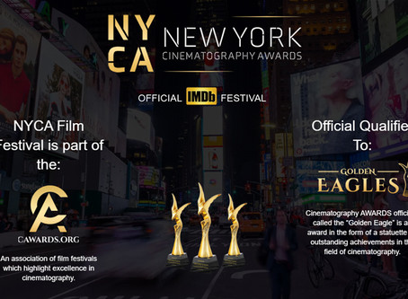 """""""THE PRIDE"""" SCORE CHOSEN AS A FINALIST IN THE 2020 NEW YORK CINEMATOGRAPHY AWARDS"""