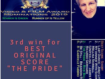 3rd award grab for RICK BALENTINE - BEST ORIGINAL SCORE IN THE HOLLYWOOD DREAMZ FILM FESTIVAL