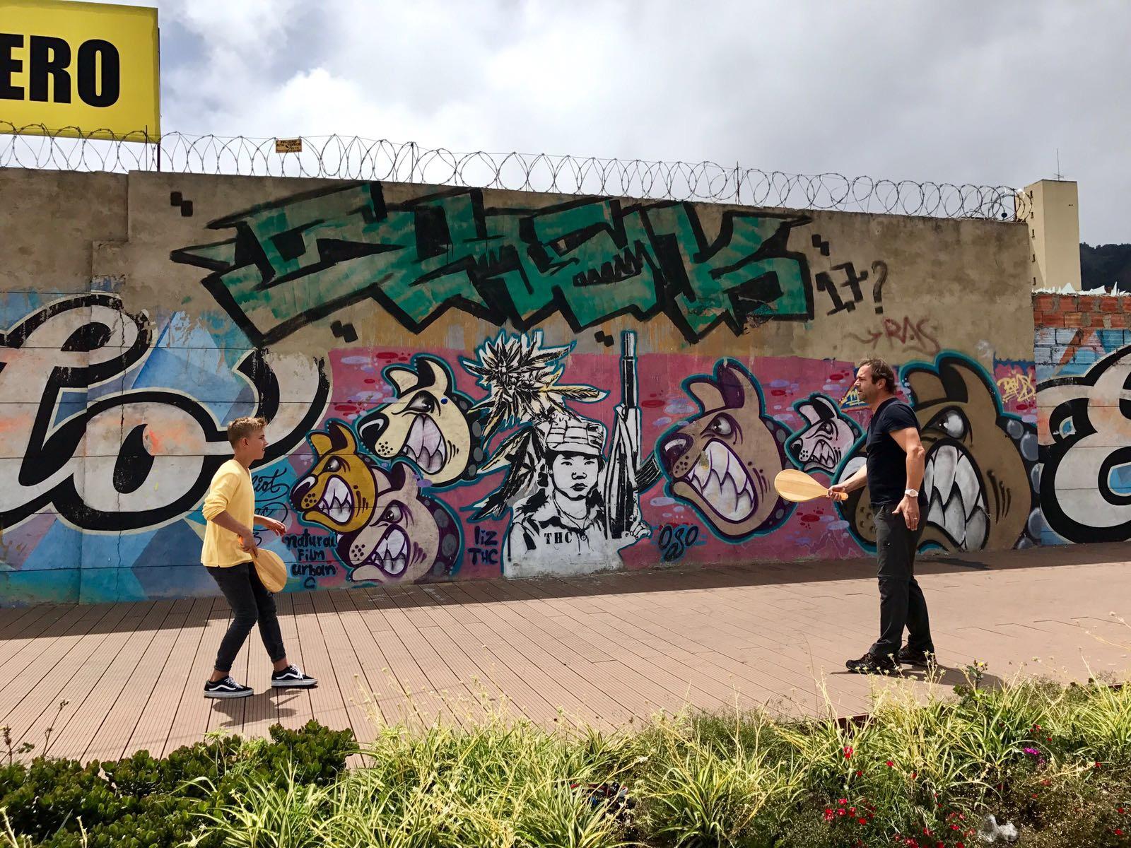 Tomi und Nelio in Medellin
