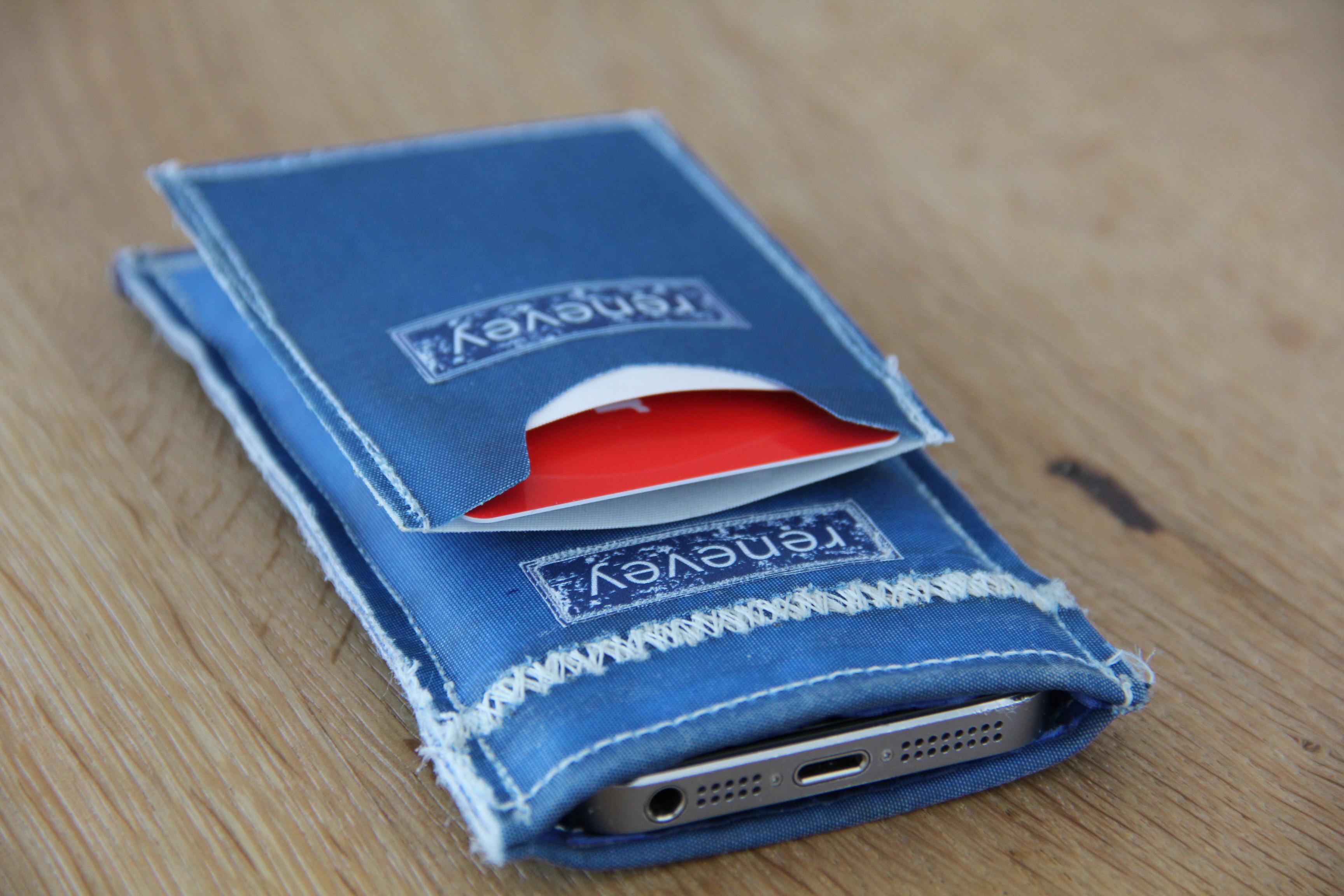 Smartphone mit Kred.Kartenhalter