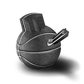 nike basketball, basketball art, basketball drawing, black and white basketball, nike art