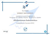 Certificat SPACE Serret Mecanique