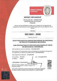 Qualité Certification Norme ISO Serret Mecanique