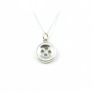 Silver Button Pendant