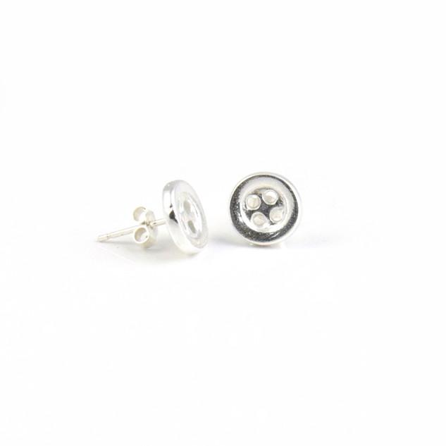 Mini Button Stud Earrings