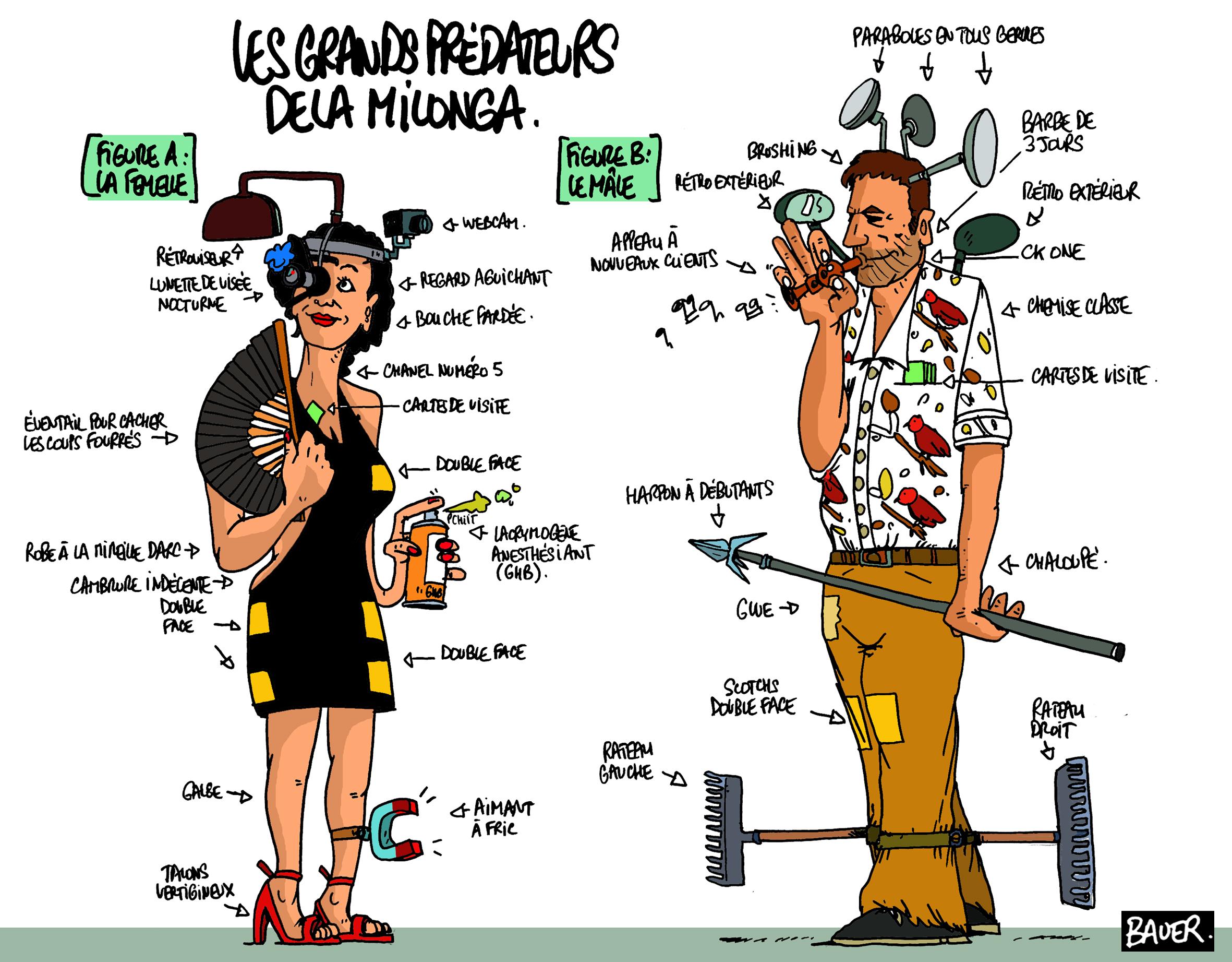 dessin Val et Greg de Bauer