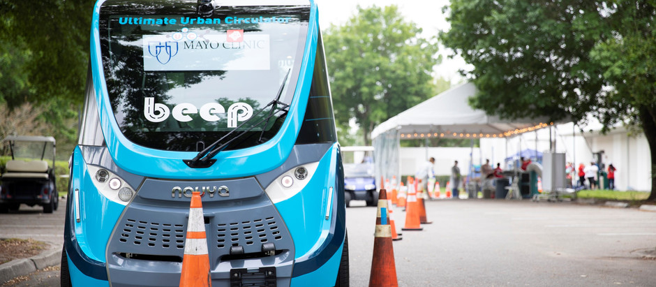 Fully Autonomous Shuttles Help in Fighting COVID-19