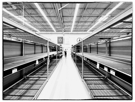 Photowalk: Costco and Walmart for toilet paper & water