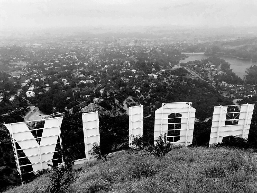 The back of the Hollywood Sign