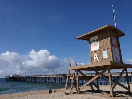 The colors of O.C. Lifeguard towers